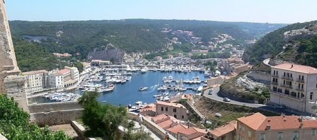Korsika Hafen von Bonifacio