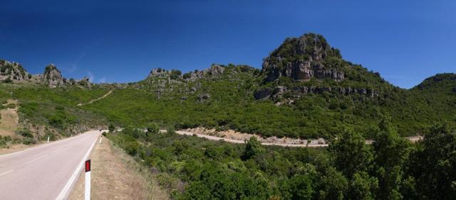 Panorama Landstrasse Sardinien
