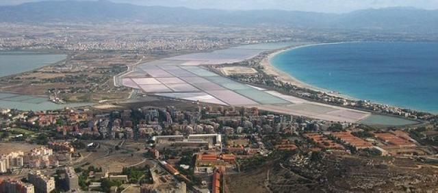 Luftbild Cagliari Blick Salzseen und Küste