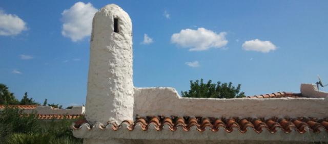 Monte Nai Dachdetail sardische Architektur