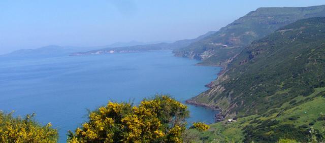 Panorama Küstenstrasse Alghero Bosa Westküste Sardiniens
