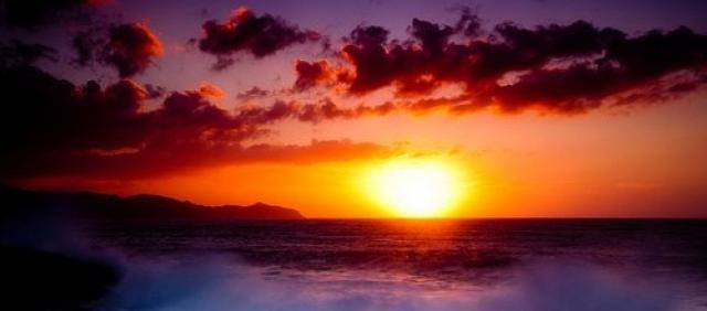 Sonnenuntergang Bosa