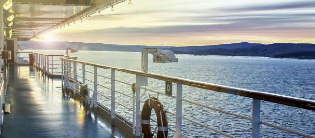 Fähre Sardinien - Ausblick an Bord bei Sardinia Ferries
