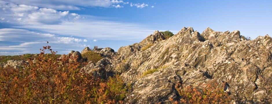 Berge Sardinien im Herbst